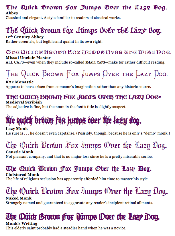 Monastic Fonts « Mere Inkling Press