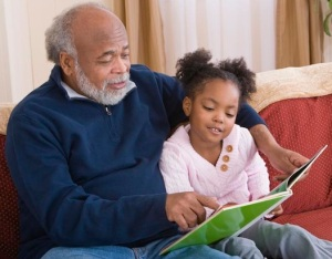 grandparent reading