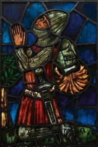 praying knight