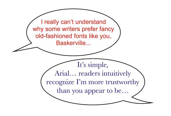 font conversation